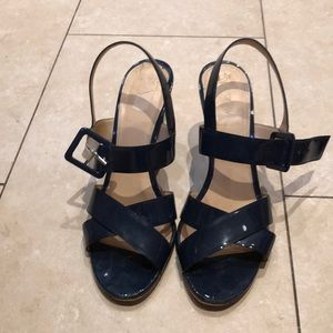 J.Crew Women's navy leather sandals size 9